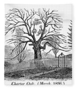 Hartford: Charter Oak Fleece Blanket