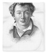 Heinrich Heine (1797-1856) Fleece Blanket