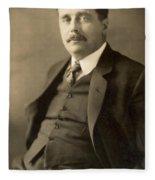 Herbert George Wells Fleece Blanket