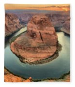 Horseshoe Bend Fleece Blanket