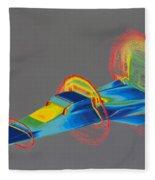 Hyperx Hypersonic Aircraft Fleece Blanket