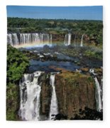 Iguazu Falls Fleece Blanket