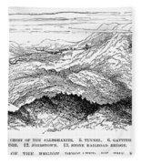 Johnstown Flood, 1889 Fleece Blanket