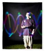 Juggling Light-up Balls Fleece Blanket