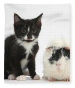 Kitten And Guinea Pig Fleece Blanket