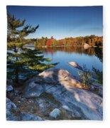 Lake George At Killarney Provincial Park In Fall Fleece Blanket