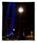 London Eye Night View Fleece Blanket