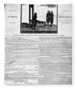 Louis Xvi: Execution, 1793 Fleece Blanket
