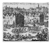 Massacre Of Huguenots Fleece Blanket