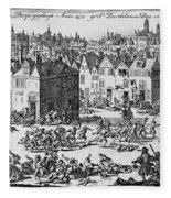 Massacre Of Huguenots Fleece Blanket