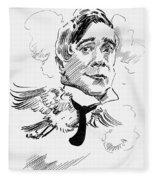 Maurice Maeterlinck Fleece Blanket