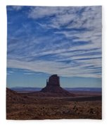 Morning Clouds Over Monument Valley Fleece Blanket