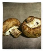 2 Mushrooms Fleece Blanket