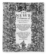 New Testament, King James Bible Fleece Blanket