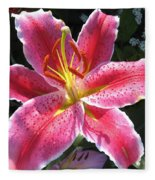 Oriental Lily Named La Mancha Fleece Blanket