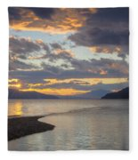 Pend Oreille Sunset Fleece Blanket