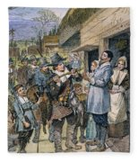 Pilgrims: Thanksgiving, 1621 Fleece Blanket