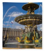 Place De La Concorde Fleece Blanket
