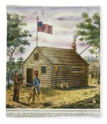 Presidential Campaign, 1840 Fleece Blanket