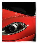 Red Ferrari F430 Scuderia Fleece Blanket