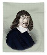 Rene Descartes, French Polymath Fleece Blanket