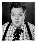 Roscoe Fatty Arbuckle Fleece Blanket