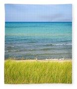 Sand Dunes At Beach Fleece Blanket