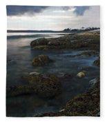 Sea At Sunset Fleece Blanket