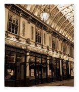 Sepia Toned Image Of Leadenhall Market London Fleece Blanket