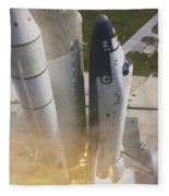 Shuttle Lift-off Fleece Blanket