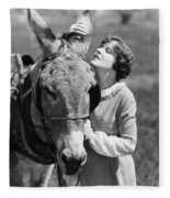 Silent Film Still: Animal Fleece Blanket