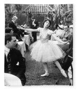 Silent Film Still: Dancing Fleece Blanket