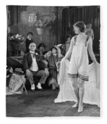 Silent Film Still: Fashion Fleece Blanket