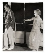 Silent Film Still: Ships Fleece Blanket