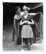 Silent Still: Bathers Fleece Blanket