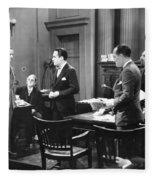Silent Still: Courtroom Fleece Blanket