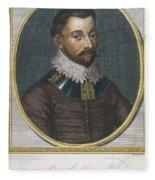 Sir Francis Drake, English Explorer Fleece Blanket
