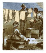 Slaves In Union Camp Fleece Blanket