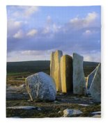 Standing Stones, Blacksod Point, Co Fleece Blanket