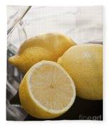 Still Life Of Bottles  And Lemons Fleece Blanket