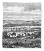 Suez Canal, 1869 Fleece Blanket