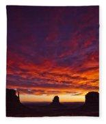 Sunrise Over Monument Valley, Arizona Fleece Blanket