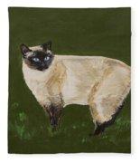 Sweetest Siamese Fleece Blanket