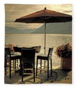 Table And Chairs Fleece Blanket