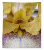 Tall Bearded Iris Named Butterfingers Fleece Blanket