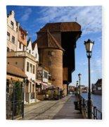 The Crane In Gdansk Fleece Blanket