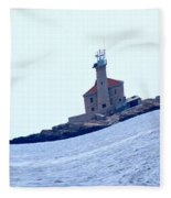 The Lighthouse Close To Primosten Fleece Blanket