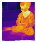 Thermogram Of A Boy Fleece Blanket