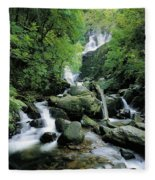 Torc Waterfall, Killarney, Co Kerry Fleece Blanket