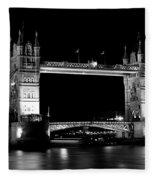 Tower Bridge At Night Fleece Blanket
